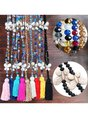 Vintage Casual Crystal Tassel Turquoise Necklaces