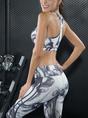 Women Yoga Sleeveless Sheath Sports Bra With Leggings Set