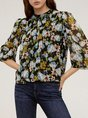 Floral Printed Shift Casual Blouse
