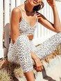 Sexy Leopard Print Yoga Bra With Leggings Set