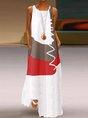Lightgreen Sleeveless Cotton Crew Neck Dress