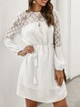 Summer Guipure Lace Casual Mini Dress