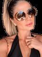 Brown Alloy Plain Sunglasses