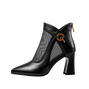 Daily Elegant Paneled Date Pu Boots