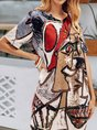 Geometric Shift Casual Mini Dress