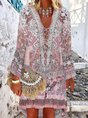V Neck Women Dresses Holiday Dress