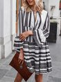 Sundress Bell Sleeve Vintage Geometric Midi Dress