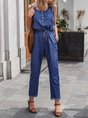 Sold Square Neck Sleeveless Pocket Shift Jumpsuit