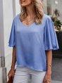 Sold Half Sleeve V Neck Blouse