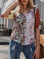 Flower Floral Long Sleeve Blouse