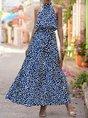 Graphic Printed Boho Holiday Maxi Dress