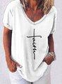 Casual Short Sleeve Printed T-Shirt