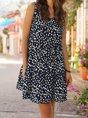 V Neck Shift  Floral Mini Dress