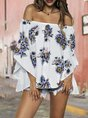 Summer Floral-Print Holiday Top