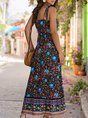 Asymmetrical Daily Printed Boho Maxi Dress