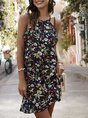 Sundress Boho Floral Printed Holiday Mini Dress