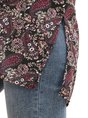 Women Buttoned Printed Paisley Blouse