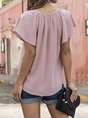 Solid Short Sleeve Daily Top