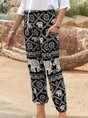 Printed Tribal Boho Pockets Pants
