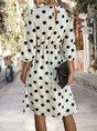 Polka Dots Printed Vintage Midi Dress
