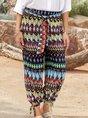 Women Printed Abstract Boho Pants