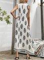 V NeckSwing Beach Floral Maxi Dress