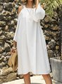 White Shift Boho Mini Dress