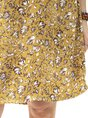 Notch Neckline Boho Floral-Print Mini Dress