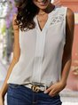 Guipure Lace Sleeveless Casual Top