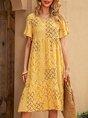 Sundress Shift Boho Floral  Midi Dress