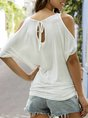 Cold Shoulder Casual T-Shirt