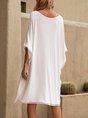 Sundress White Shift Boho Mini Dresses