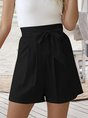 Linen Solid Casual Short