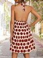 Halter Holiday Printed Mini Dress