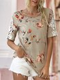 Eyelet Casual Floral Top