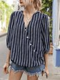 Half Sleeve Shift Daily Casual Blouse