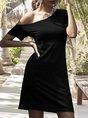 Sundress Short Sleeve Daily Solid Mini Dress