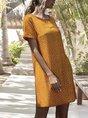Square Neck Casual Printed Mini Sundress