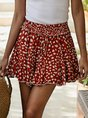 Printed Holiday Ruffled Skirt