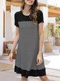Sundress Causal Shift Stripes Mini Dress