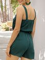 Sleeveless Casual One-Pieces Romper