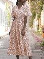 Sundress V Neck Holiday Maxi Dress