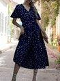 A-Line Holiday  Polka Dots Maxi Dress