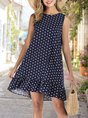 Shift Printed Polka Dots Mini Dress