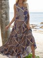 Pink-Yellow Swing Beach Maxi Dress