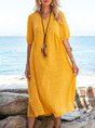 Yellow Swing Holiday Midi Dress