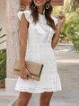 White Backless Holiday Mini Dress