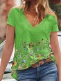 Casual Short Sleeve Cotton Top
