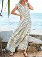 Apricot Date Floral-Print Geometric Maxi Dress