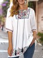 Floral Short Sleeve Ethnic Top